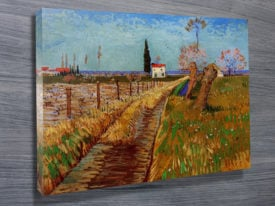 Path Through A Field With Willows Classical Wall Art On Canvas