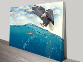 Hunting Eagle Canvas Print