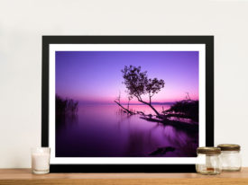 Purple Shore Light Canvas Wall Art Picture