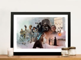 star wars characters print to canvas