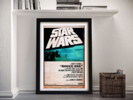 Star Wars Rogue one retro style Framed Wall Art