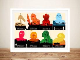 Star Wars Saga Covers Pop Art Picture