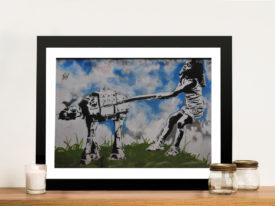 Star Wars Dog Walker Graffiti Street Wall Art Print