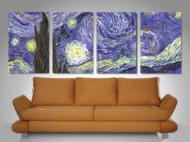 the starry night quad panel