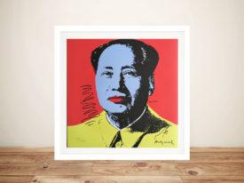 Andy Warhol Mao Framed Pop Art Pictures Australia