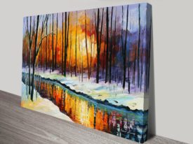 winter sun leonid afremov print