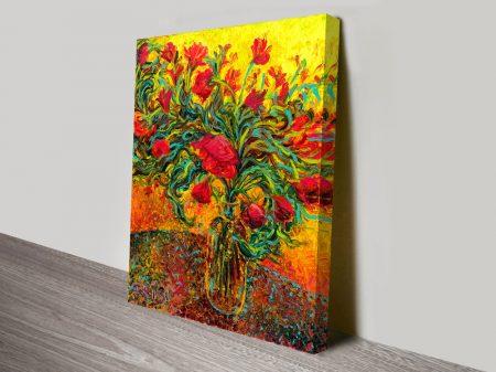 Watts of Neon Paint Floral Art by Iris Scott