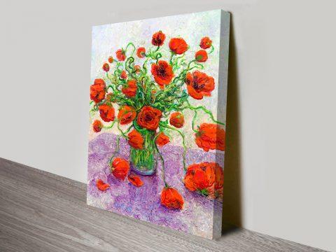 The color poppy Iris Scott canvas print