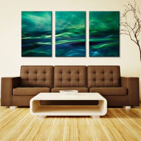 Northern Lights Triptych Three Panel Canvas Printing