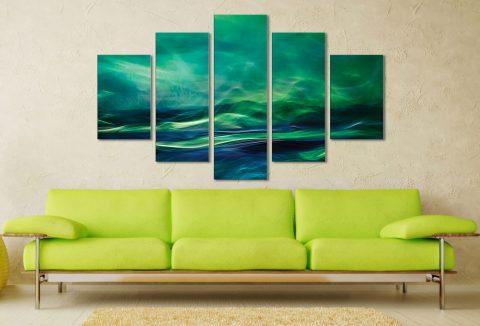 Northern Lights Five Piece Artwork Best Canvas Prints