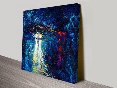 Mini cooper oncoming iris scott canvas wall art print