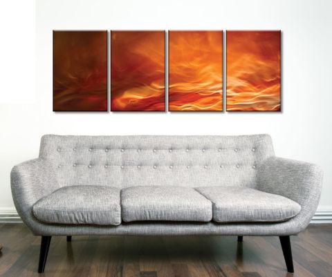 Burning Water Four Piece Artwork Best Wall Art