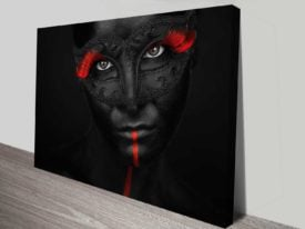 masquerade artistic custom photo wall print