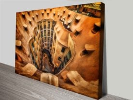 carved from a tree custom canvas print
