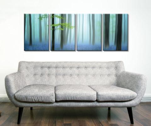 The Blue Forest 4 Piece Artwork Canvas