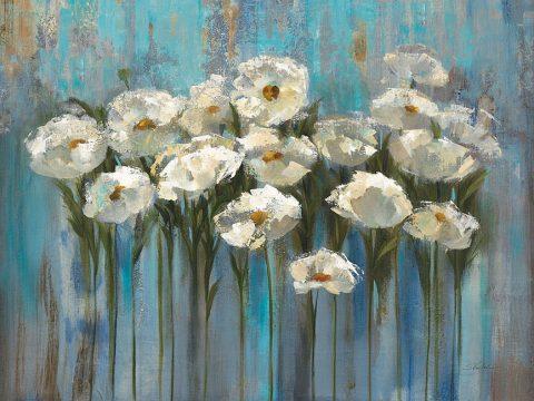 Anemones Lake Silvia Vassileva Abstract Canvas Art Print