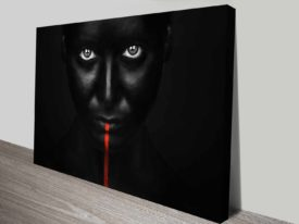 the thin red line photo art on canvas