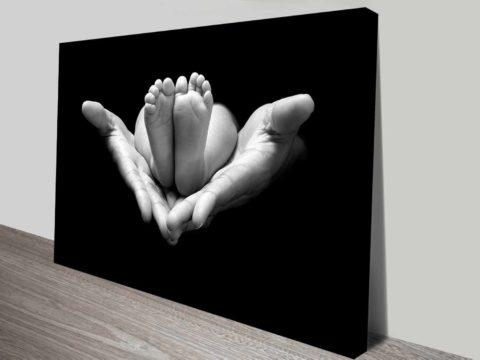holding life online photo to canvas custom art