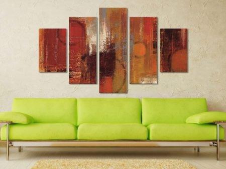 Pentatonic Crop 5 Panel Canvas Prints