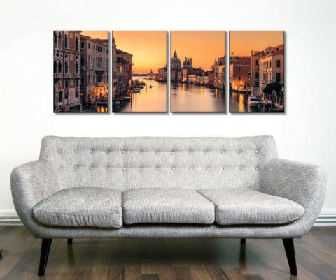 Dawn on Venice 4 Piece Canvas Artwork