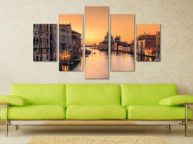 Dawn On Venice 5 Piece Artwork Wall Prints Online
