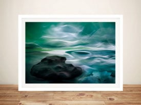 Unknown-Waters-Abstract Framed-Wall-Art