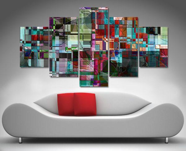 the transcendental idea 5 panel wall art canvas print