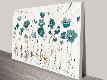 Abstract Balance Blue Painting Print