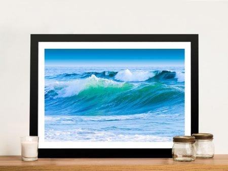 Blue Ocean Waves Framed Wall Art