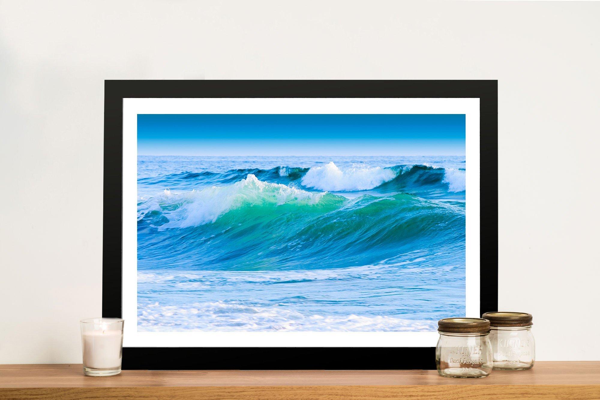 Azure Seas Framed Seascape on Canvas