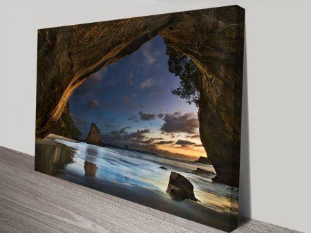 Midnight Cove Seascape Canvas Art