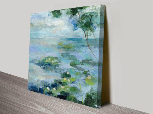 Lily Pond II Silvia Vassileva Abstract Canvas Art