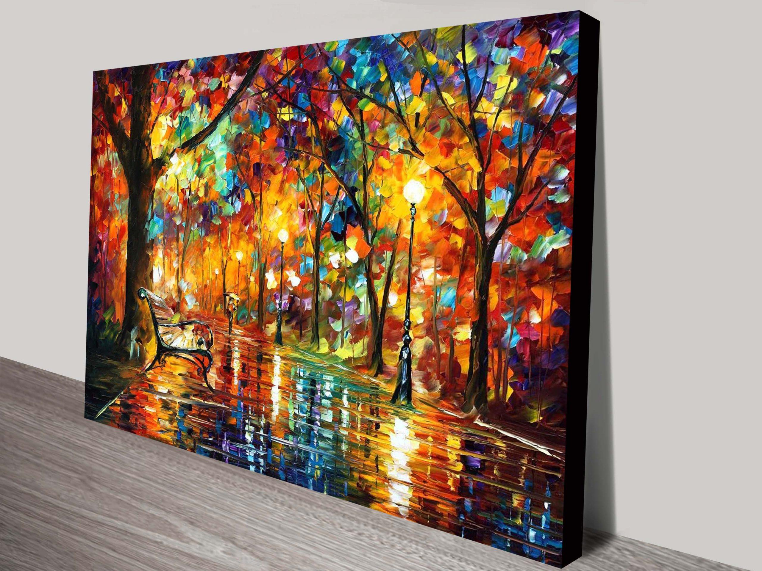 Colorful Night Leonid Afremov Contemporary Art