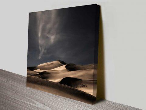 desert sand dunes wall art canvas print