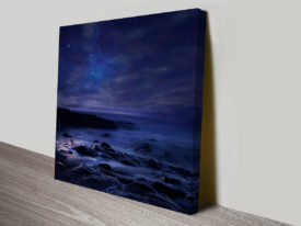 Twilight Beach Canvas Art Print Australia