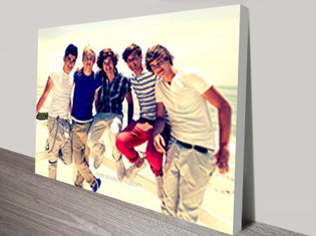 1D one-direction canvas fan art prints