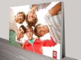 1d group shot pop art canvas print