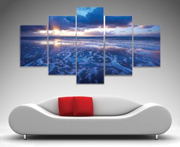 Blue Reflections Seascape Canvas Art