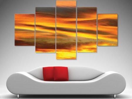 Linear drifts 5 panel wall art