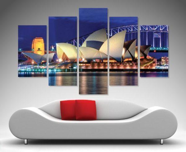 Sydney Opera House 5-Piece Wall Art Set