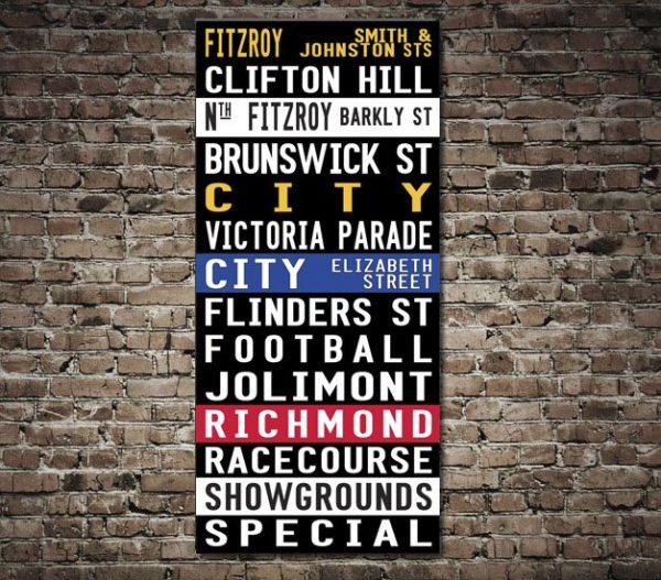 Fitzroy Coloured Tram Scroll