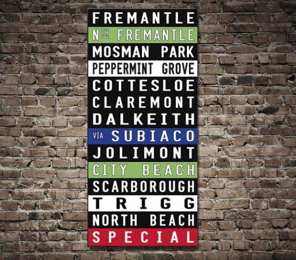 Fremantle tram destination scroll
