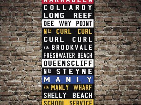 Narrabeen Tram Signs Wall Art