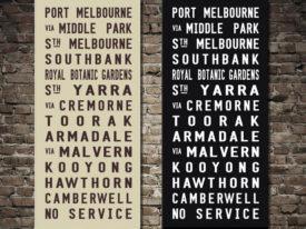 Port Melbourne Blind Tram Roll