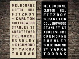 Melbourne Tramscroll Tram Signs, Australia