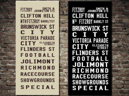 Fitzroy Tram Banner Melbourne Bus Scroll