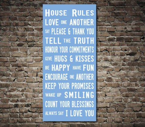 House Rules Tram Scroll