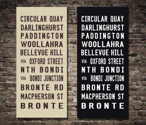 Bronte Tram Vintage Roll Art