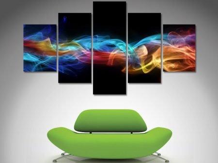 fire abstract split canvas art print