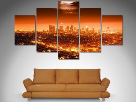 Los Angeles diamond shape canvas art set